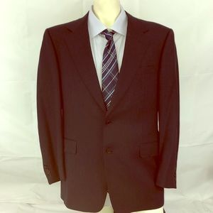 Canali 46R navy double button Suit Jacket